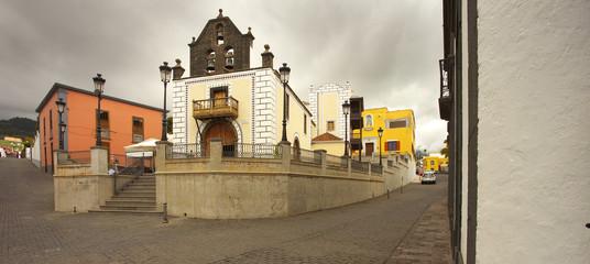 Small church Iglesia Nuestra Senora de Bonanza, town of El Paso, La Palma, Canary islands