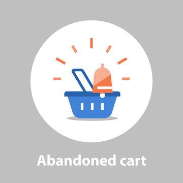 Abandoned cart remainder, shopping and marketing strategy, sales improvement