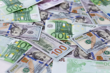 Denominations of dollars and euros