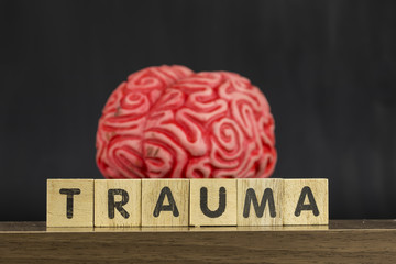 Brain and Trauma , Mental Health Concept