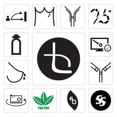 Set of beta, Black swastik, bpa free, 360 photo, antibody, lactation, disaster recovery, fire dept icons