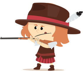 cowgirl en duel au far west