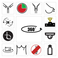 Set of 360 photo, fire dept, non toxic, lactation, beta, leaderboard, 24 hr icons