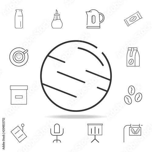 Jupiter Line Icon Detailed Set Of Web Icons And Signs Premium
