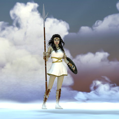 Athena Greek Goddess - Athena was the daughter of the Greek God Zeus and admired wisdom, courage and strategic warfare.