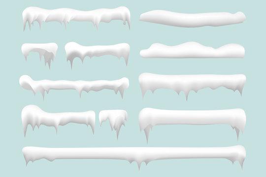 Set of snow