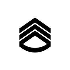 rank in epaulettes icon. Element of military for mobile concept and web apps. Detailed rank in epaulettes icon can be used for web and mobile. Premium icon