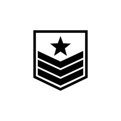 military badge on the sleeve icon. Element of military for mobile concept and web apps. Detailed military badge on the sleeve icon can be used for web and mobile. Premium icon