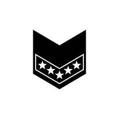 military rank icon. Element of military for mobile concept and web apps. Detailed military rank icon can be used for web and mobile. Premium icon