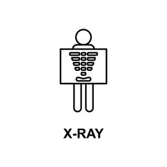x-ray icon. Element of treatment with name for mobile concept and web apps. Thin line x-ray icon can be used for web and mobile. Premium icon
