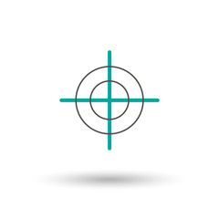 Target icon in trendy flat style isolated on background. Target icon page symbol for your web site design Target icon logo, app, UI. Target icon Vector illustration, EPS10.