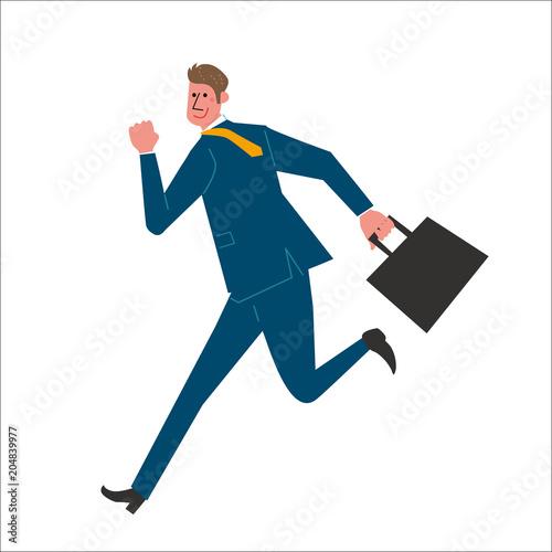 走る ビジネスマン イラスト Fotoliacom の ストック画像と