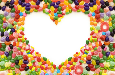 Heart shaped candy frame