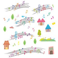 音符 パターン シームレス