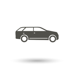 suv icon on white background