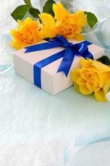 黄色の薔薇 ギフトボックス