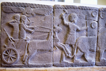 Germany, Berlin, 26,03,2015 Mesopotamian art war intended to serve as a way to glorify powerful rulers and their connection to divinity. Berlin Pergamon Museum.
