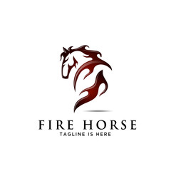 horse back fire, ass view back side horse logo