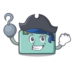 Pirate suitcase character cartoon style