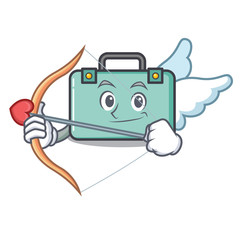 Cupid suitcase character cartoon style