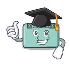 Graduation suitcase character cartoon style