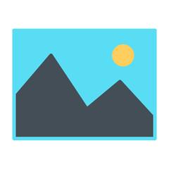 Picture Icon. Vector Simple Minimal 96x96 Pictogram