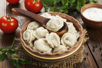 Dumplings in the pot