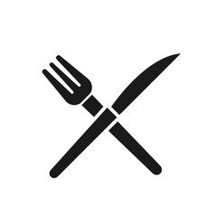 Fork and Knife icon vector, solid illustration, pictogram isolated on white background