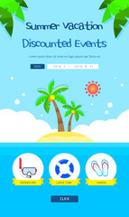 Summer Vacation Travel Event Page Design