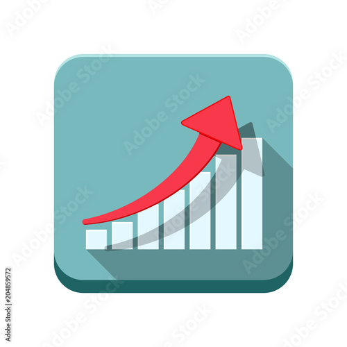 Colored Flat Square Icon Vector Design Arrow With Rectangular