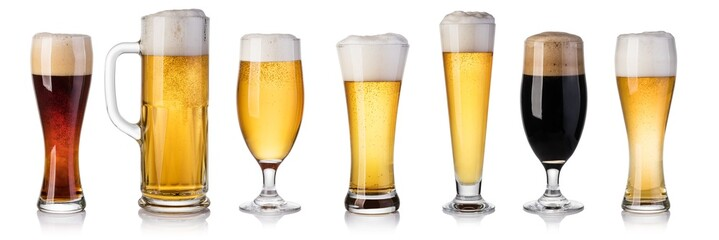Self adhesive Wall Murals Beer / Cider set of beer Glass