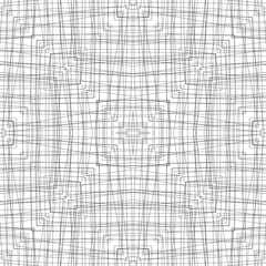 Black and white line fabric seamless pattern