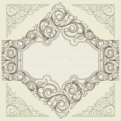 Vintage decorative ornate blank