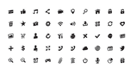 Communication, Internet, Mail, Technology, Business, Vector, Illustration, 3-D, Icons