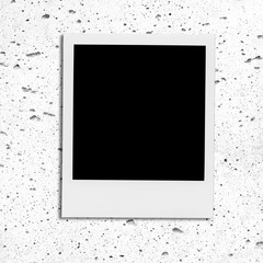 Retro realistic blank instant photo with shadow