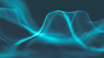 Music abstract background blue. Equalizer for music, showing sound waves with music waves, music background equalizer  concept.