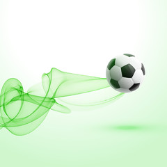 stylish football tournament background with green wave