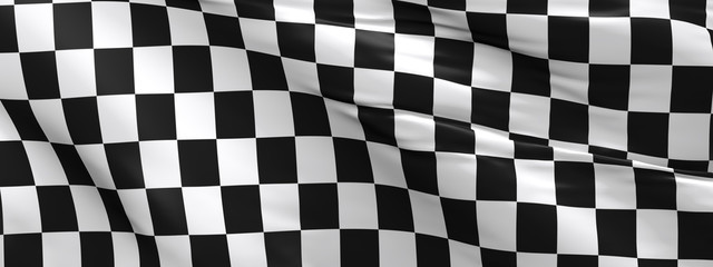 Checkered flag, race flag background Fototapete