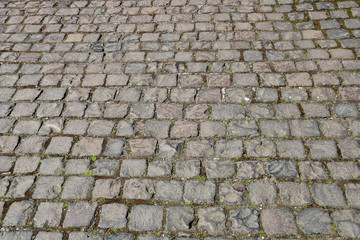 Old Cobbled Pathway in a Country Park