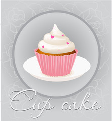 Cupcake mesh vector illustration