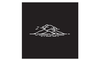 Hawaii Island / Mountain and Sea logo design inspiration Fototapete