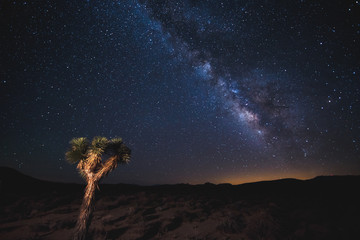 Death Valley at night under the Milky Way