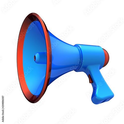 Loudspeaker megaphone news blog communication bullhorn blue orange loudspeaker megaphone news blog communication bullhorn blue orange message announcement icon concept 3d illustration publicscrutiny Gallery