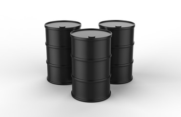 Oil barrel on isolated white background, 3d illustration