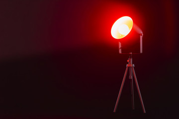 Lamp with red light