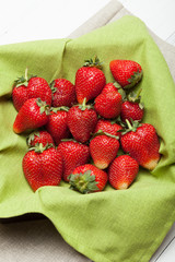 Red strawberry bowl dessert, juice garden juice berry.