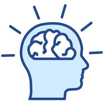 Design Thinking Ideen im Kopf Vector Icon llustration