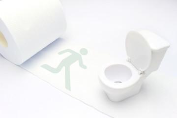 トイレに駆け込む