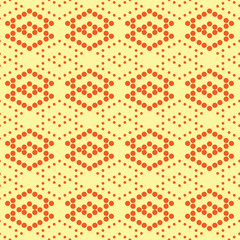 Rhombus of polka dot seamless pattern