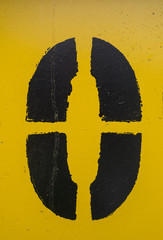 Written Wording in Distressed State Typography Found O 0 Zero